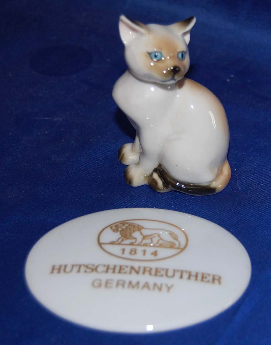 siamese cat kitten hutschenreuther germany very rare retired ebay. Black Bedroom Furniture Sets. Home Design Ideas